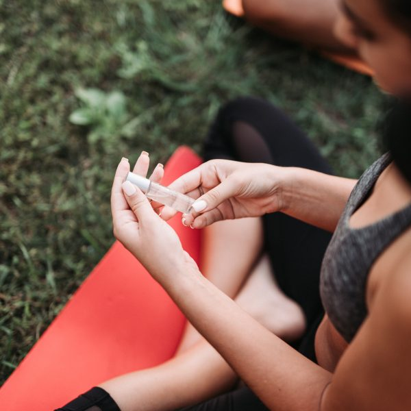 Salute Aromatherapy Roll-On - 7. yogini holding salute on her hands while practicing yoga