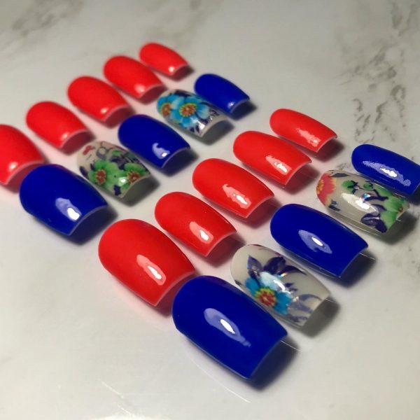 Tropical Mix and Match Press-On Nails - 74CC3E2F 1258 4152 96A0 1670F06DC68B