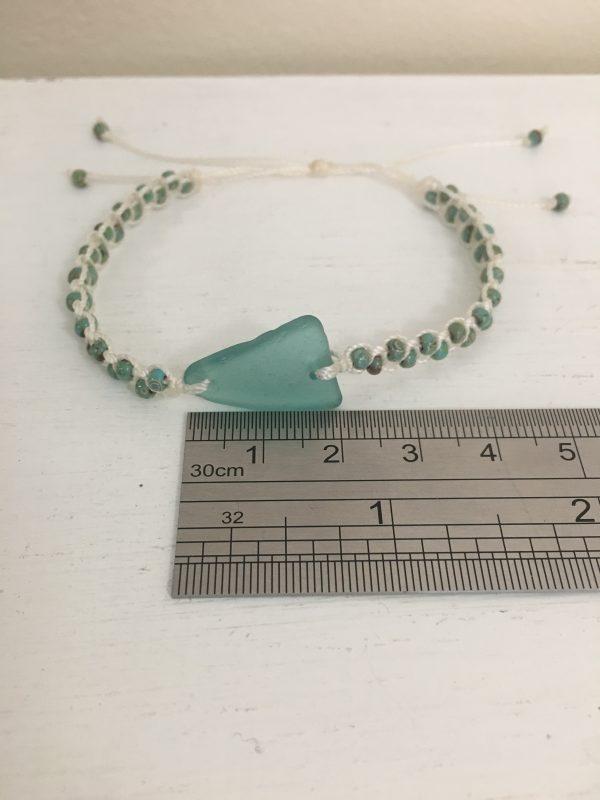 Turquoise Sea Glass Macrame Bracelet - 812023BE 3869 4F9B A9A7 11A74B62215F rotated