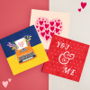 Bundle of 3 Love greeting cards