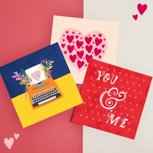 Bundle of 3 Love greeting cards