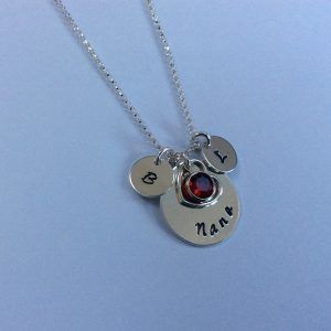 Mothers Day Nana Necklace with Children Initials