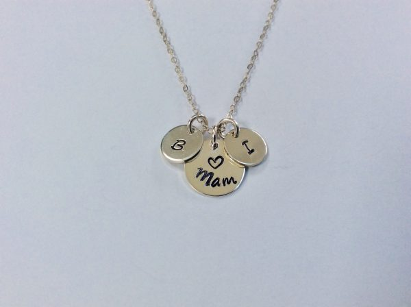 Mothers Day Mam Nana Necklace with Children Initials