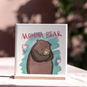 Momma Bear Ceramic Tile