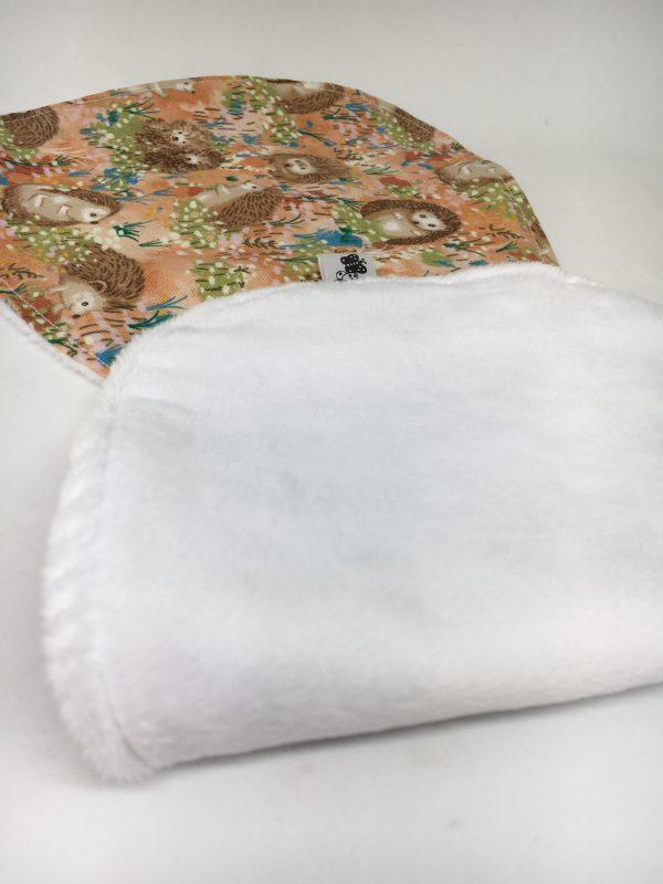 Burp Cloth Hedgehog brown - C6152AC2 9E8C 4933 8AAB DA47601BB12C rotated