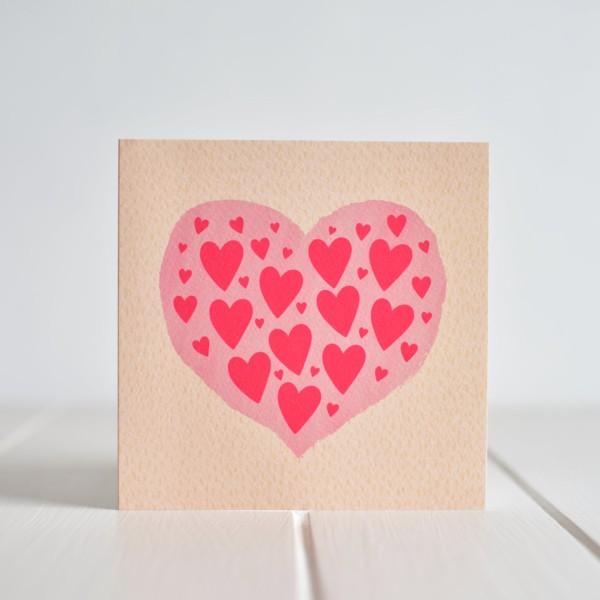Greeting card - Love Hearts
