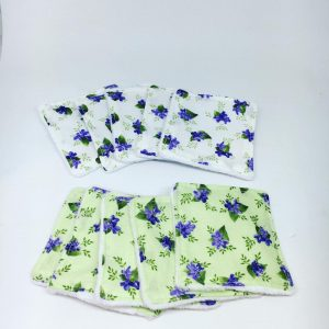 Green Floral Reusable Wipes