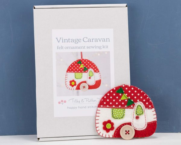 Vintage Caravan Felt Ornament Sewing Kit - Caravan box sample