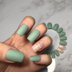 Matte Olive Green Press-On Nails