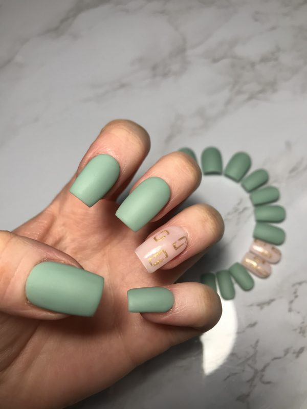 Matte Olive Green Press-On Nails