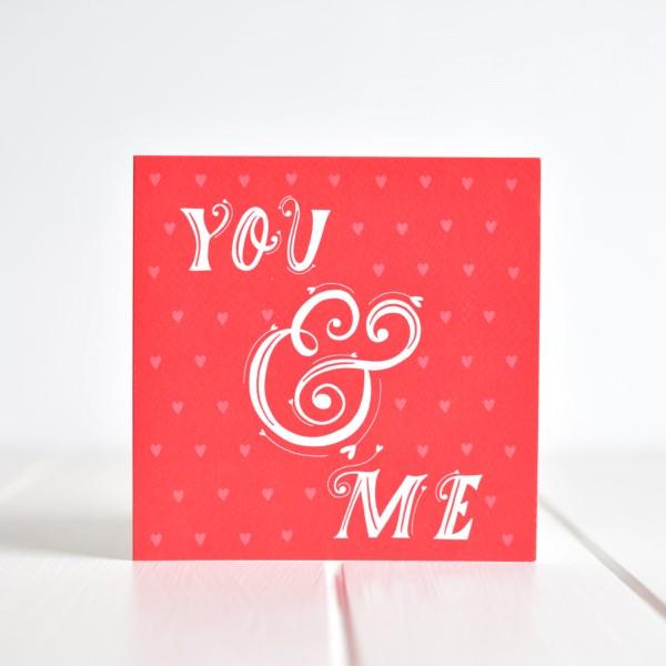 Greeting card - You & Me
