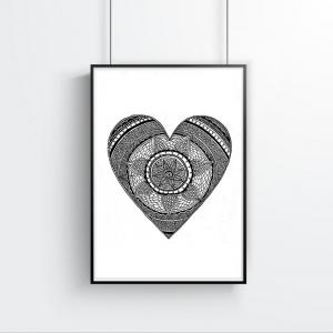 Love Story Heart Print