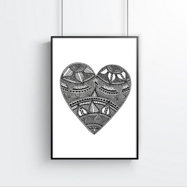 Love Story Heart Print - Heart 3