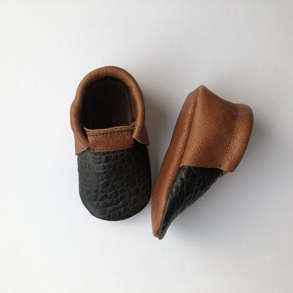 Leather Baby Moccasin Shoes (Girls & Boys) - IMG 1477