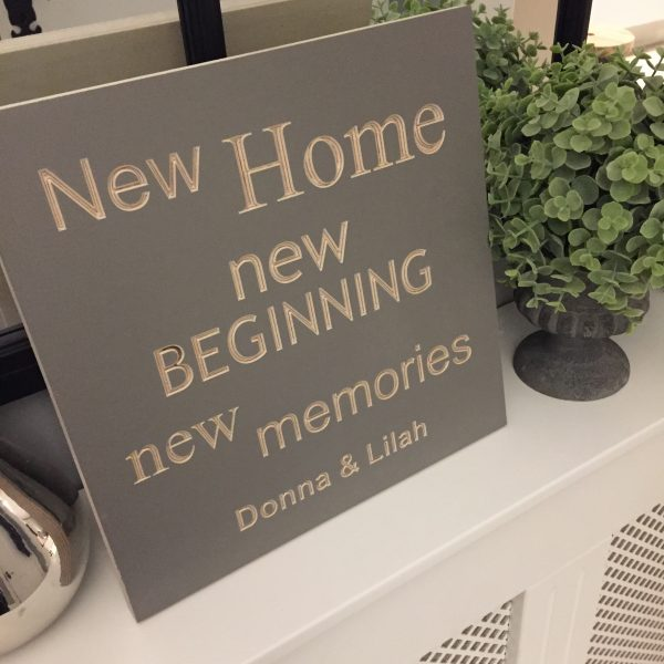 Wooden Plaque new home