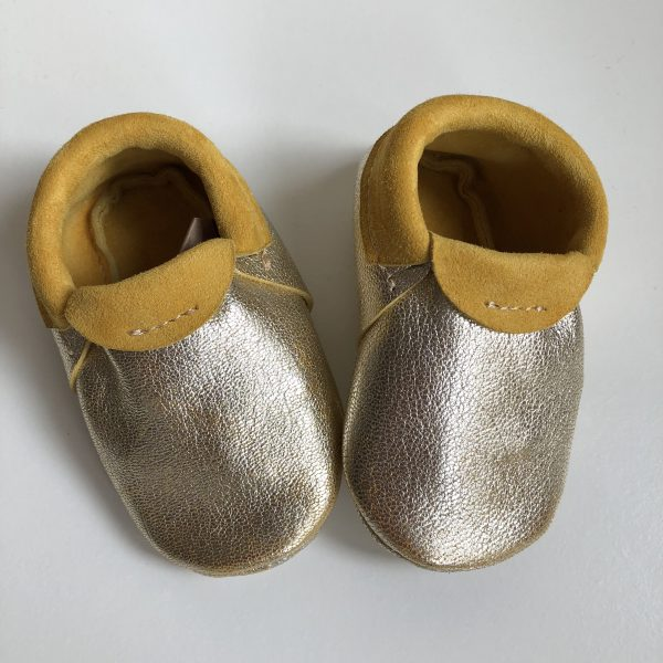 Leather Baby Moccasin Shoes (Girls & Boys) - IMG 1997 rotated