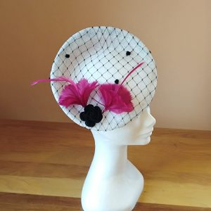 Willow: Black and White Fascinator