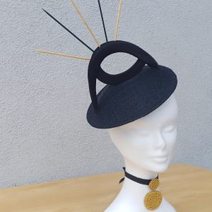 Ella: Black and Gold Fascinator