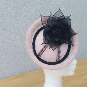Noelle: Purple and Black Fascinator