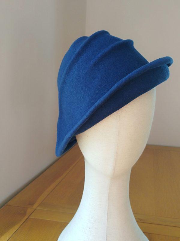 Lola: Dark Blue Freeform Felt Hat
