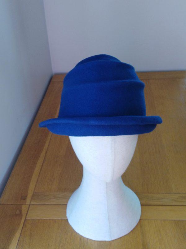 Lola: Dark Blue Freeform Felt Hat - IMG 20201118 123614