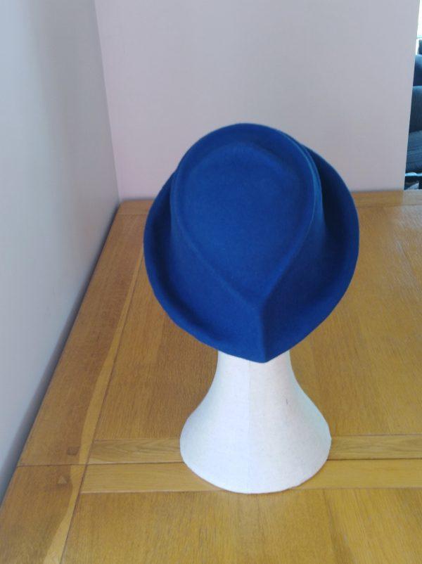 Lola: Dark Blue Freeform Felt Hat - IMG 20201118 123625