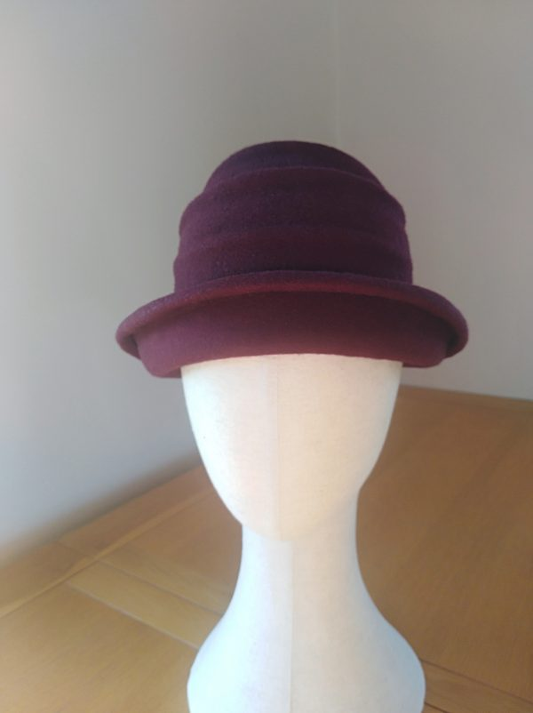 Lola: Wine Freeform Felt Hat - IMG 20201204 100801