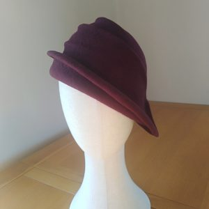 Lola: Wine Freeform Felt Hat