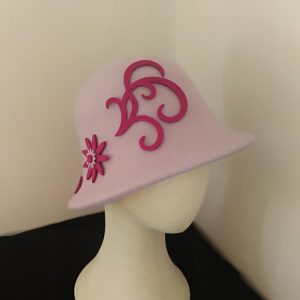 Cora: Lilac and Fushia Cloche Hat
