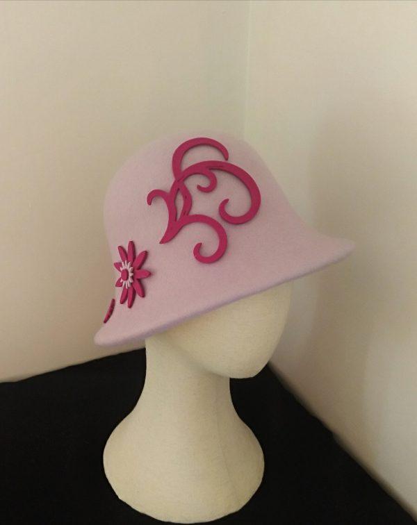 Cora: Lilac and Fushia Cloche Hat