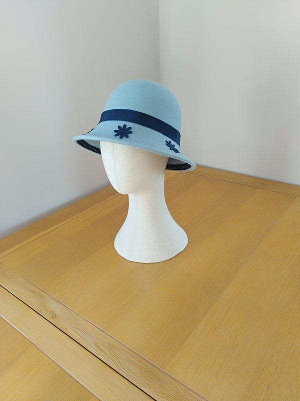 Jojo: Pale Blue and Navy Cloche Hat - IMG 20201212 130008