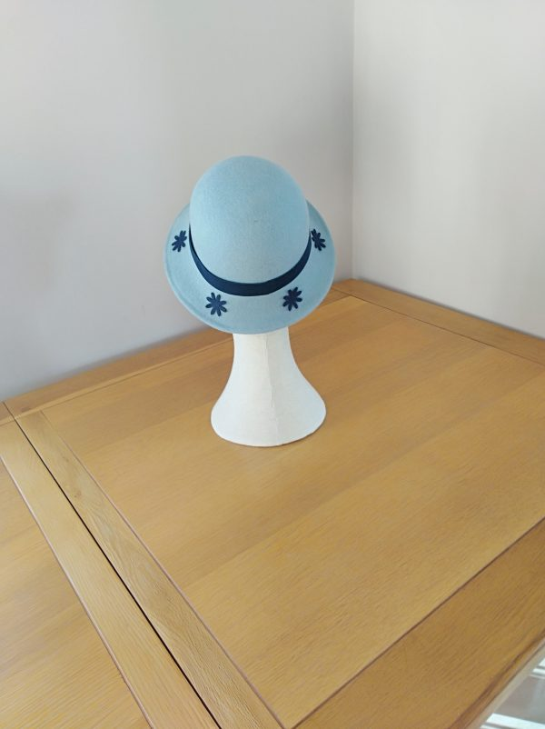 Jojo: Pale Blue and Navy Cloche Hat - IMG 20201212 130022