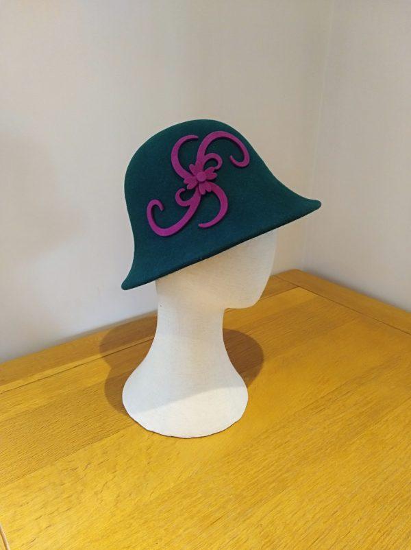 Cora: Lilac and Fushia Cloche Hat - IMG 20201218 150734