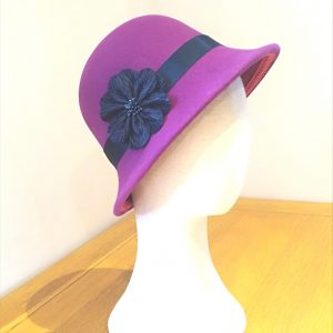 Belle: Fushia and Navy Cloche Hat