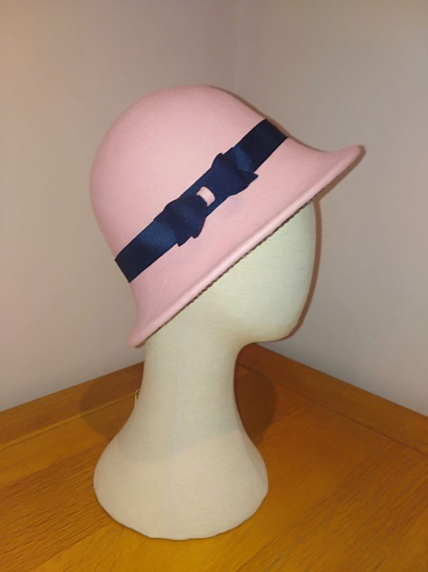 Rose: Pink and Navy Cloche Hat - IMG 20210127 115130