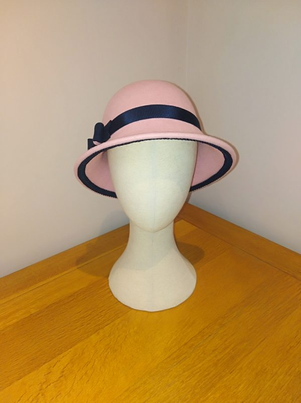 Rose: Pink and Navy Cloche Hat - IMG 20210127 115140