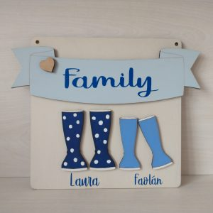Family Name Welly Plaque (Small)