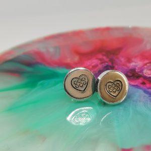 Celtic Knot Heart Earrings