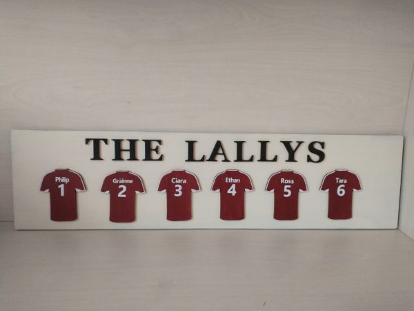 Personalised Football Jersey Family Plaque - IMG 20210214 172236830