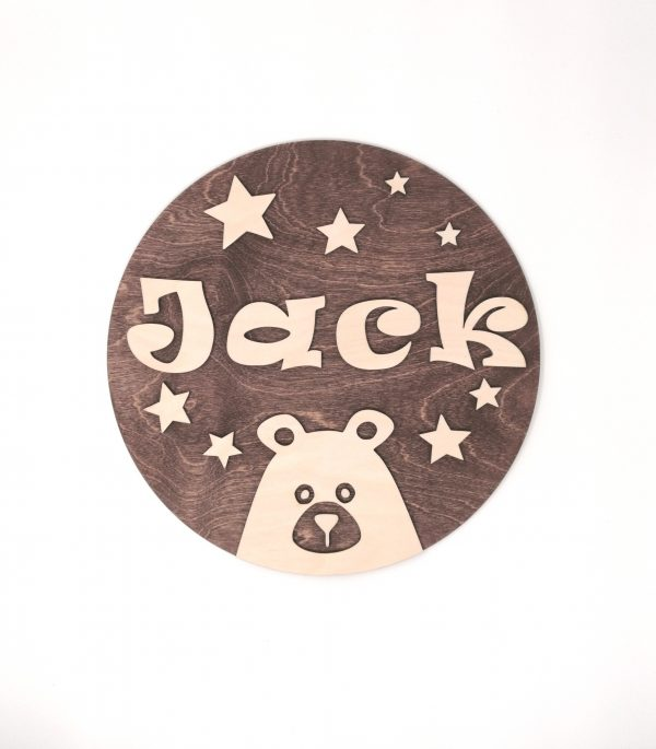 Teddy Bear Children's Name Wall Sign