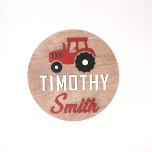 Tractor Children's Name Wall Sign
