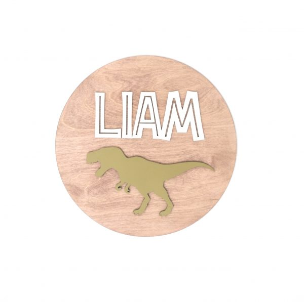 Dinosaur Children's Name Wall Sign