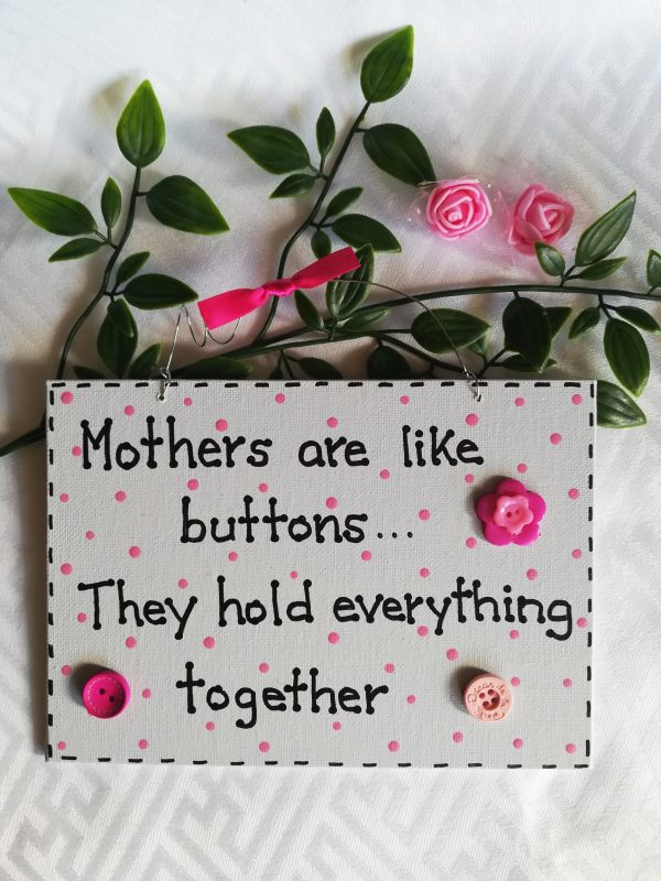 Wall Sign - Mother's Day Buttons