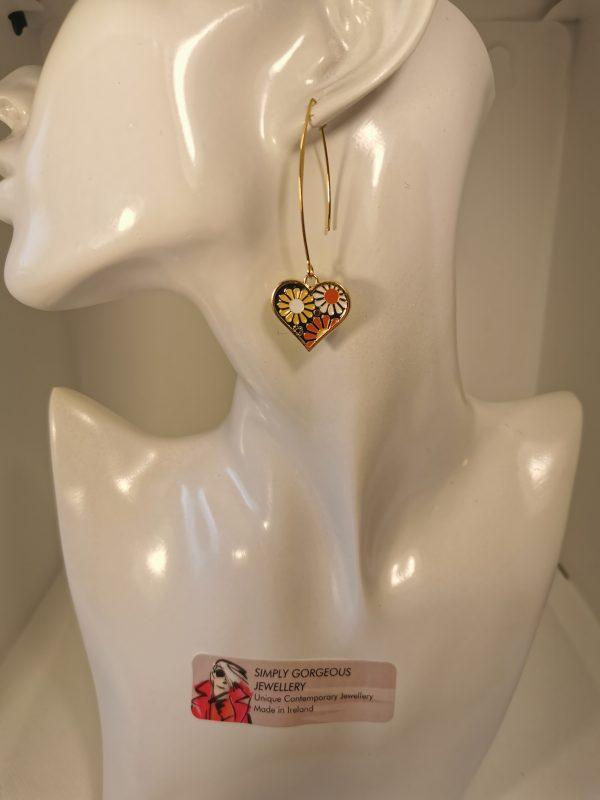 Love Heart Retro Flower Earrings - IMG 20210226 152110