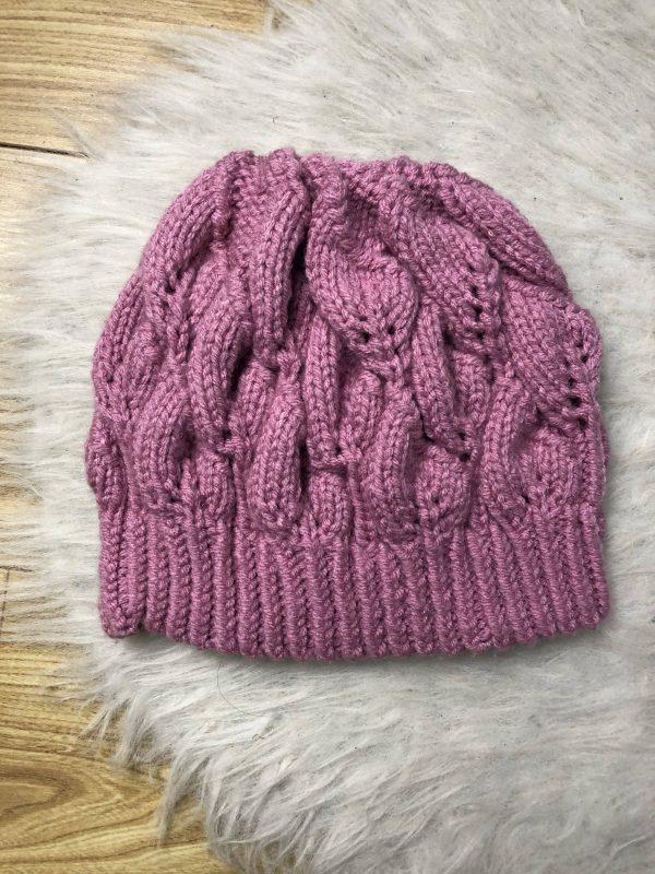Women's Pink Beanie Hat - IMG 2797 rotated