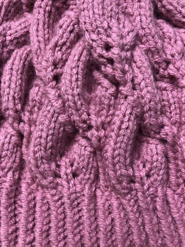 Women's Pink Beanie Hat - IMG 2801 rotated