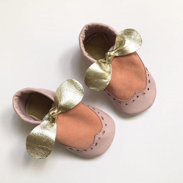 Leather Brogue Moccasin Shoes with Bows - IMG 9626 rotated