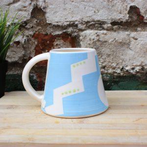Malibu blue handmade mug