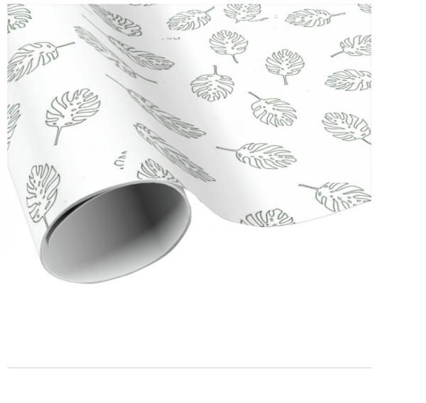 Leaf Gift Wrapping and Card Set - Leaf Wrapping Paper 2