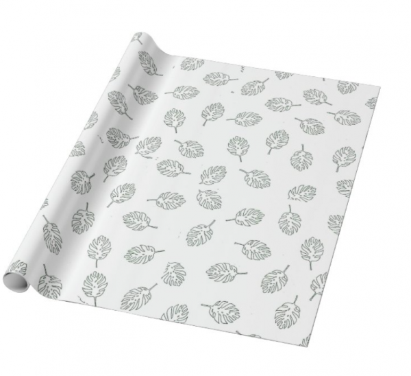 Leaf Gift Wrapping and Card Set